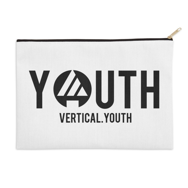 Youth Logo Black Accessories Zip Pouch by the vertical church's Artist Shop