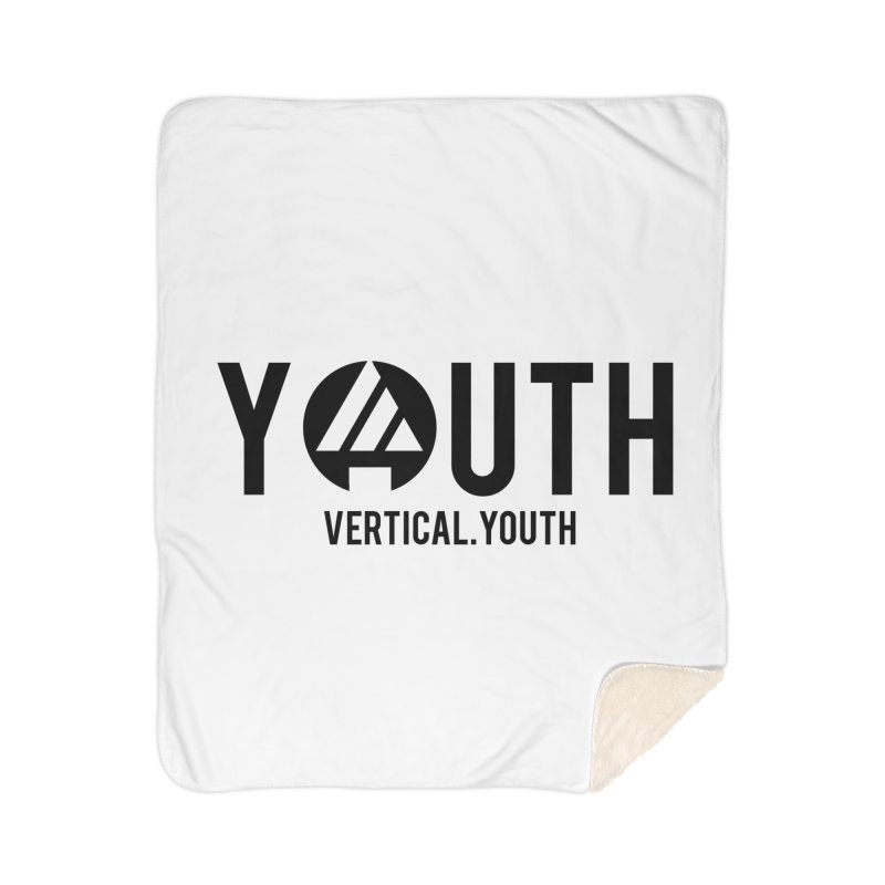 Youth Logo Black Home Sherpa Blanket Blanket by the vertical church's Artist Shop
