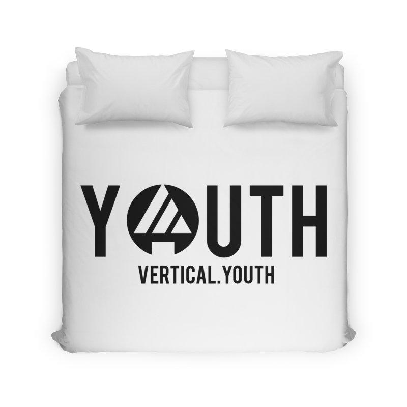 Youth Logo Black Home Duvet by the vertical church's Artist Shop