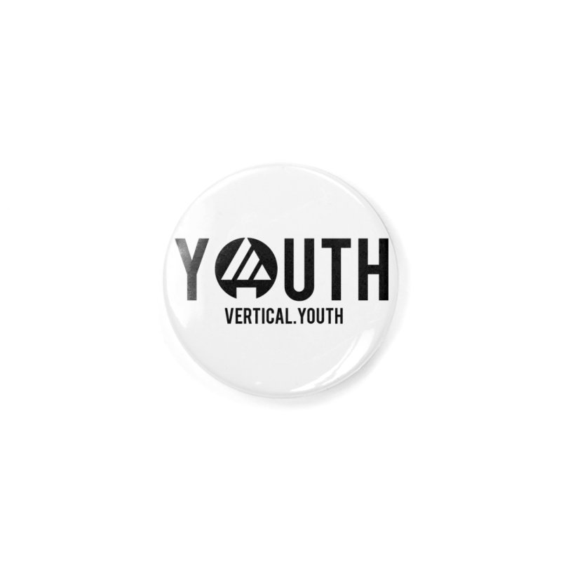 Youth Logo Black Accessories Button by the vertical church's Artist Shop