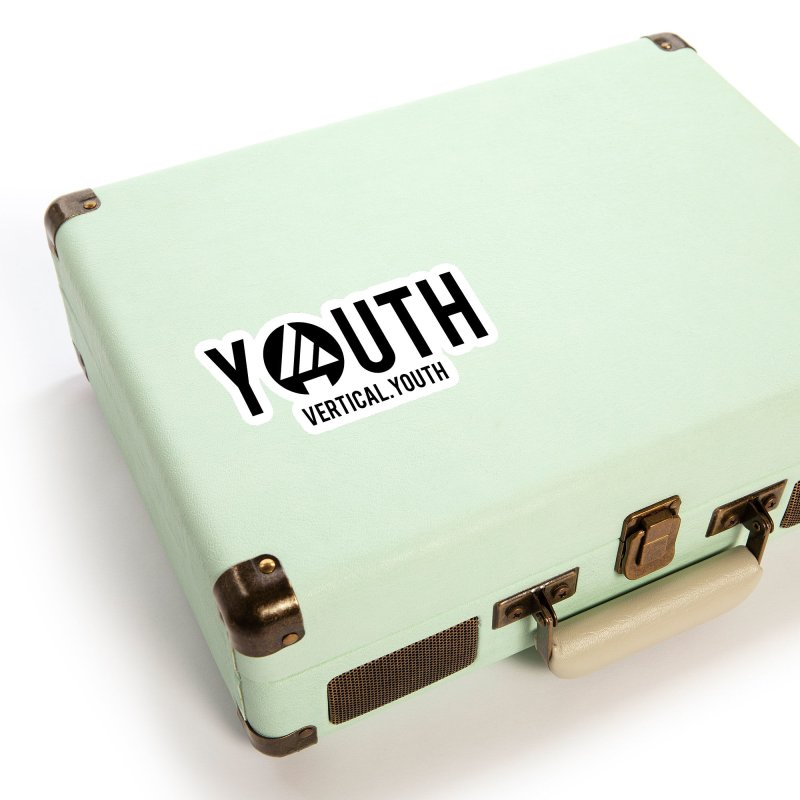 Youth Logo Black Accessories Sticker by the vertical church's Artist Shop