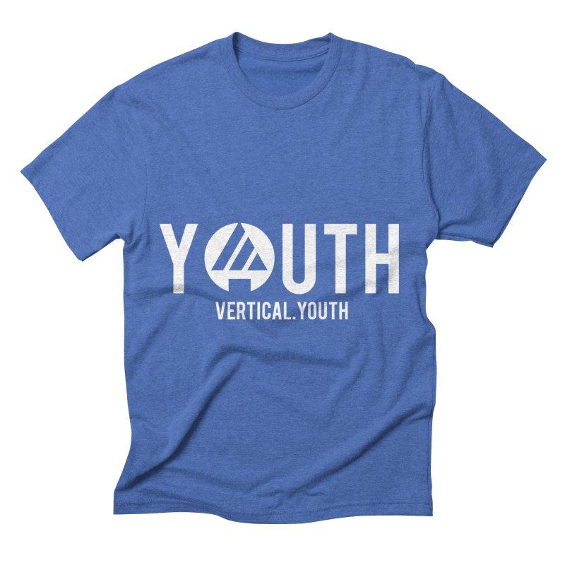 Youth Logo White Men's T-Shirt by the vertical church's Artist Shop
