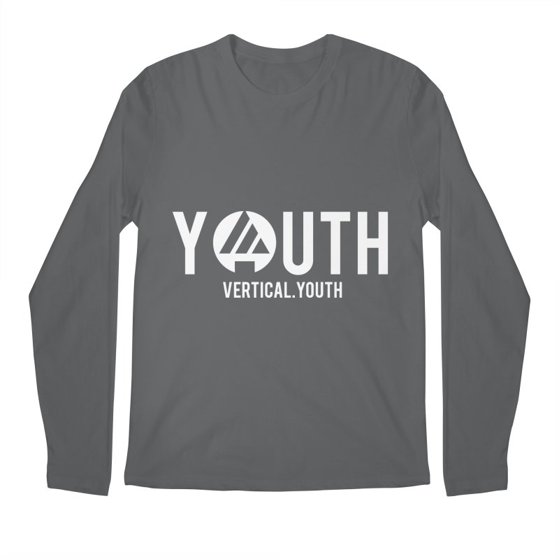 Youth Logo White Men's Longsleeve T-Shirt by the vertical church's Artist Shop