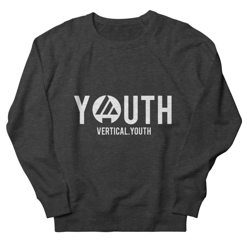 Youth Logo White Women's French Terry Sweatshirt by the vertical church's Artist Shop