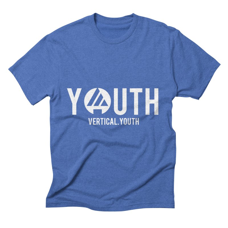 Youth Logo White Men's T-Shirt by the vertical church's Artist Shop