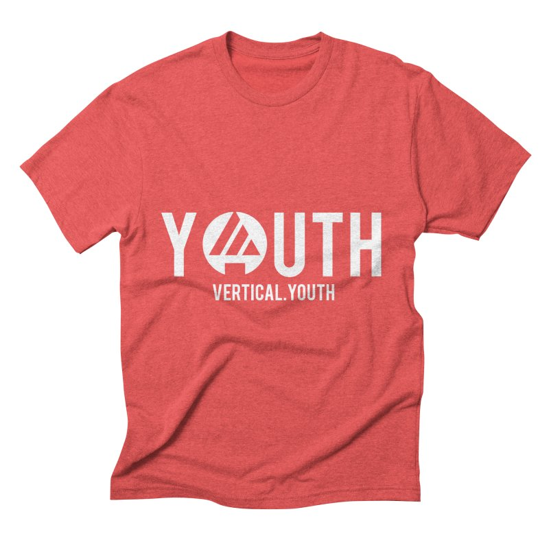 Youth Logo White Men's Triblend T-Shirt by the vertical church's Artist Shop