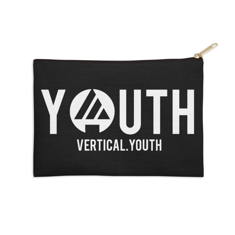 Youth Logo White Accessories Zip Pouch by the vertical church's Artist Shop
