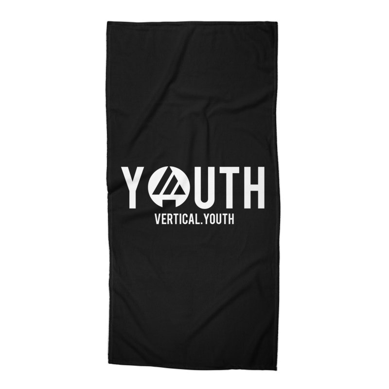 Youth Logo White Accessories Beach Towel by the vertical church's Artist Shop
