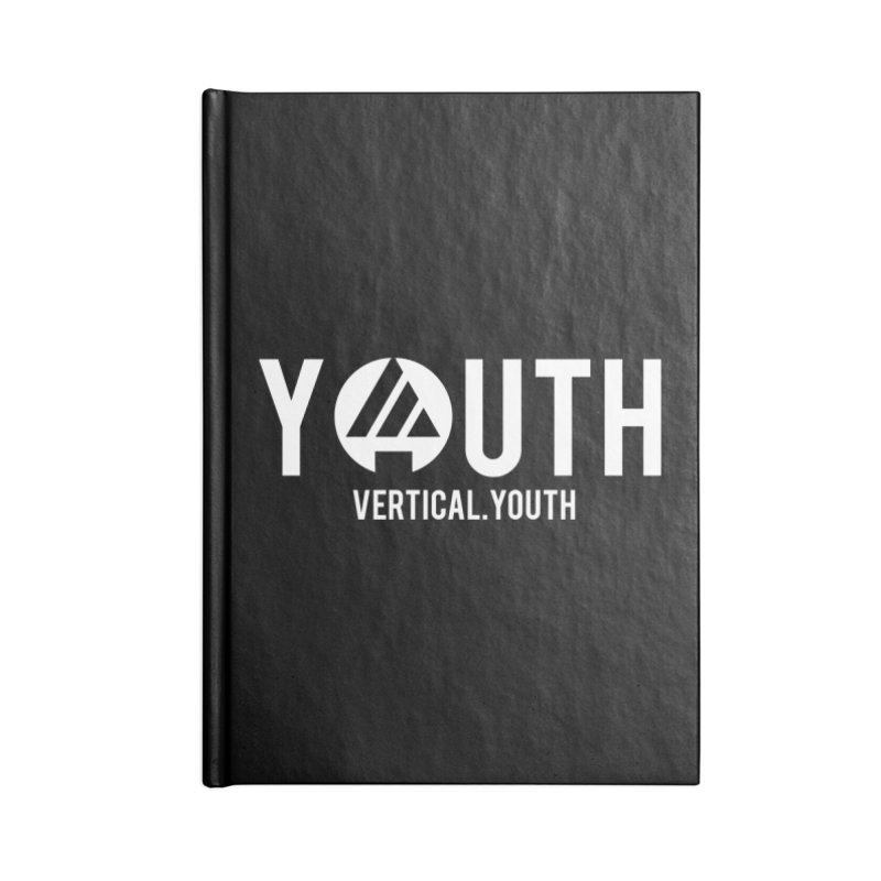 Youth Logo White Accessories Notebook by the vertical church's Artist Shop