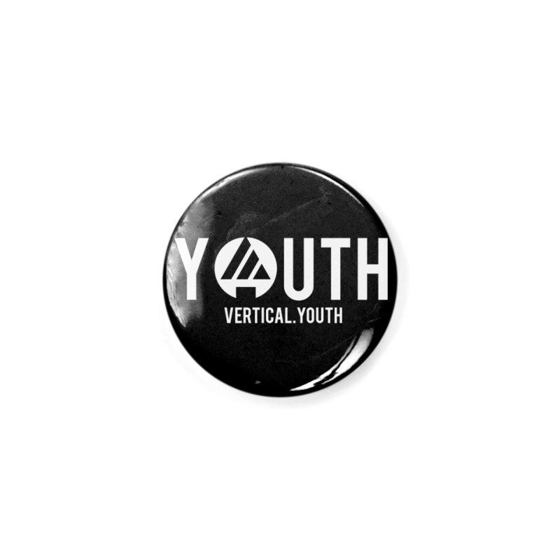 Youth Logo White Accessories Button by the vertical church's Artist Shop