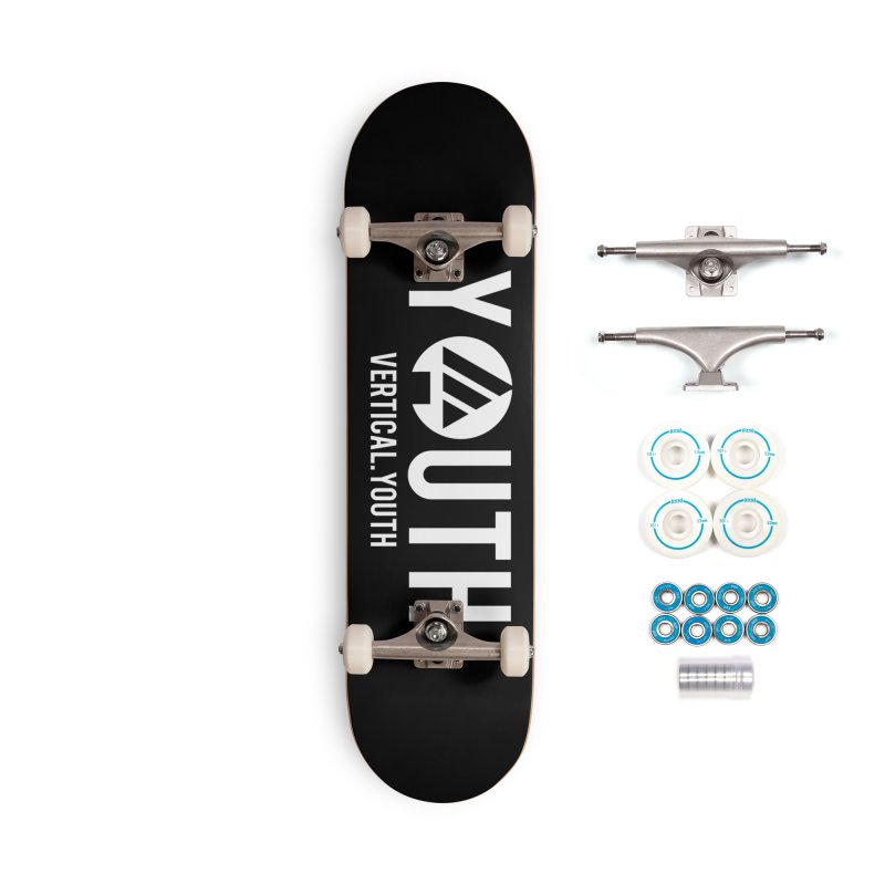 Youth Logo White Accessories Skateboard by the vertical church's Artist Shop