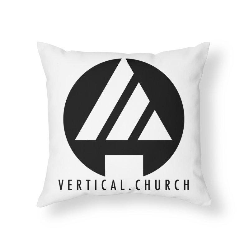 Vertical Church Logo Black Home Throw Pillow by the vertical church's Artist Shop