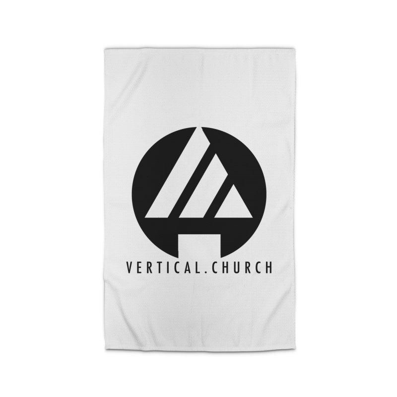 Vertical Church Logo Black Home Rug by the vertical church's Artist Shop