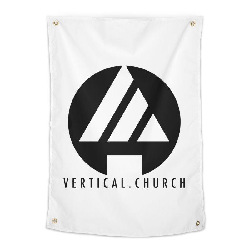 Vertical Church Logo Black Home Tapestry by the vertical church's Artist Shop