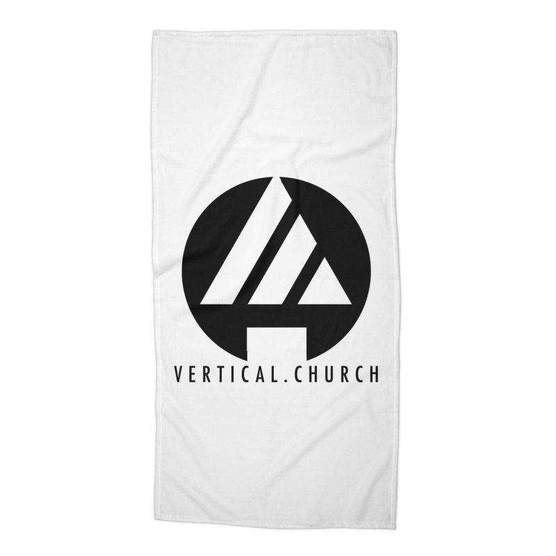Vertical Church Logo Black Accessories Beach Towel by the vertical church's Artist Shop