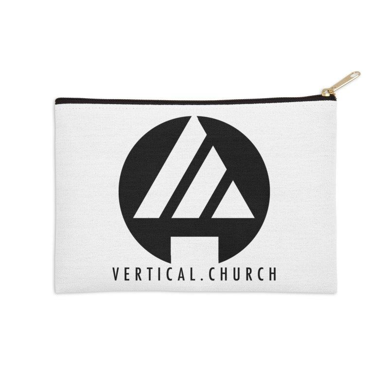 Vertical Church Logo Black Accessories Zip Pouch by the vertical church's Artist Shop
