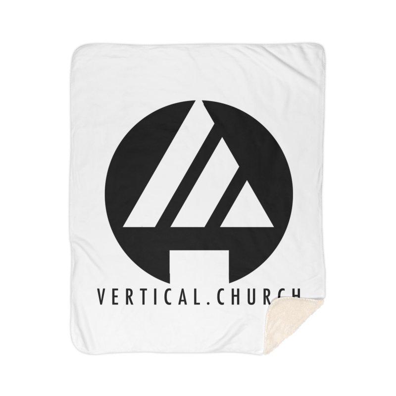 Vertical Church Logo Black Home Sherpa Blanket Blanket by the vertical church's Artist Shop