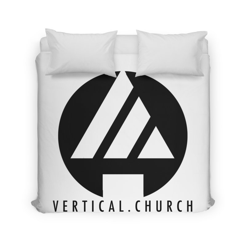 Vertical Church Logo Black Home Duvet by the vertical church's Artist Shop