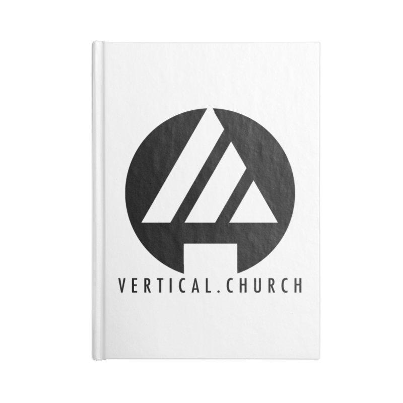 Vertical Church Logo Black Accessories Notebook by the vertical church's Artist Shop