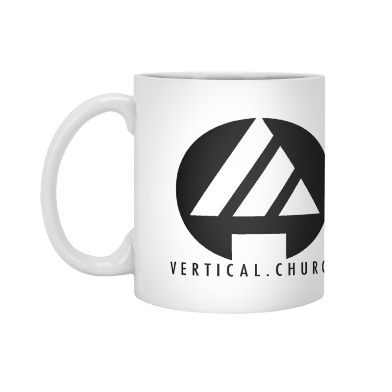 Vertical Church Logo Black Accessories Mug by the vertical church's Artist Shop