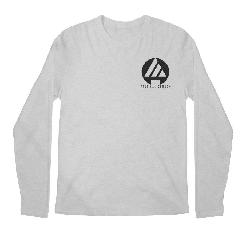 Vertical Church Logo Black Men's Regular Longsleeve T-Shirt by the vertical church's Artist Shop