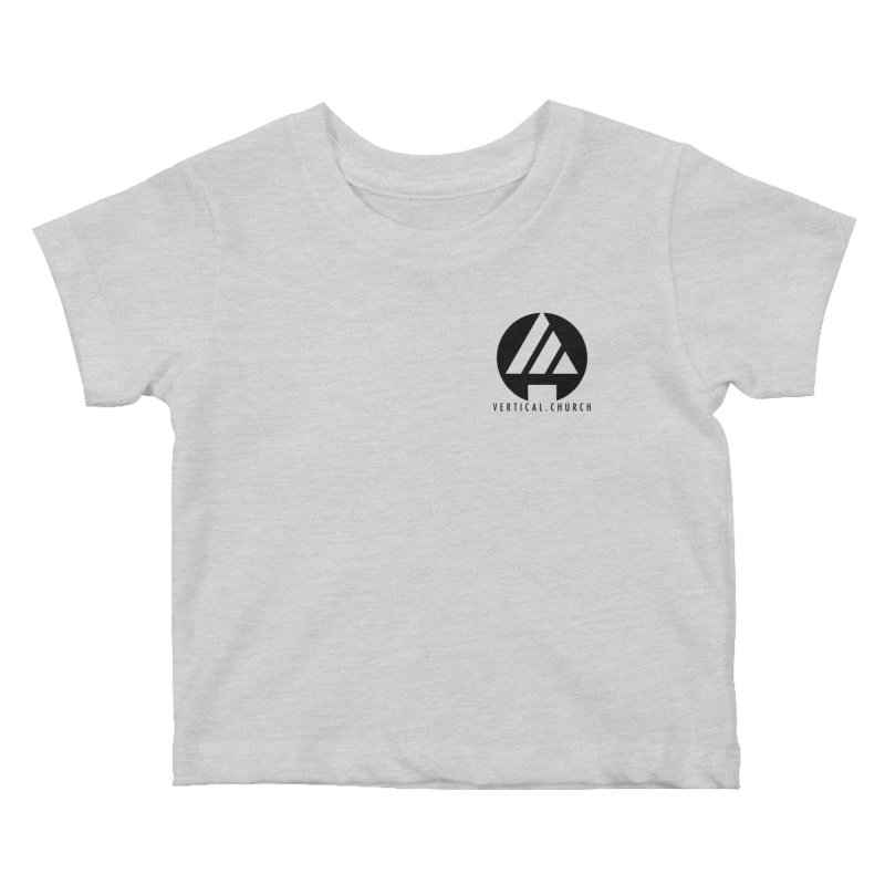 Vertical Church Logo Black Kids Baby T-Shirt by the vertical church's Artist Shop