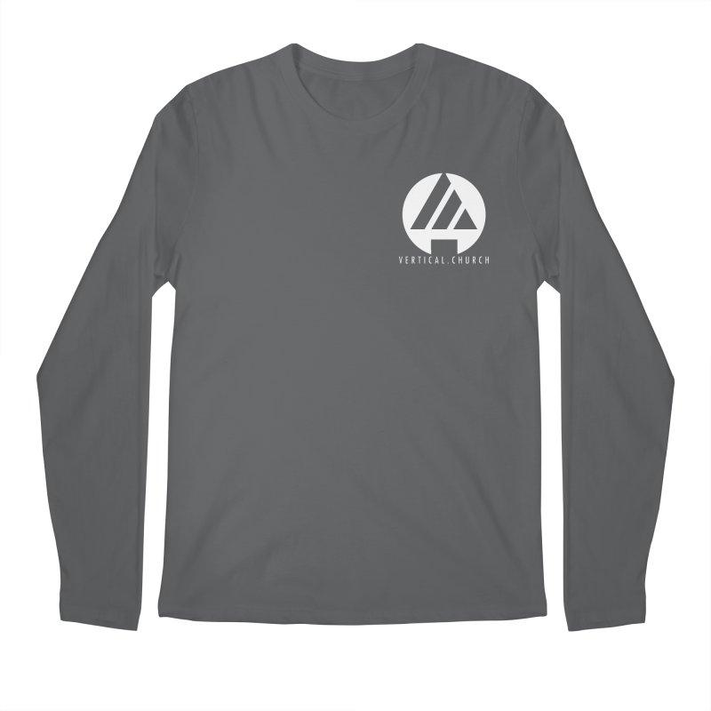 Vertical Church Logo White Men's Longsleeve T-Shirt by the vertical church's Artist Shop