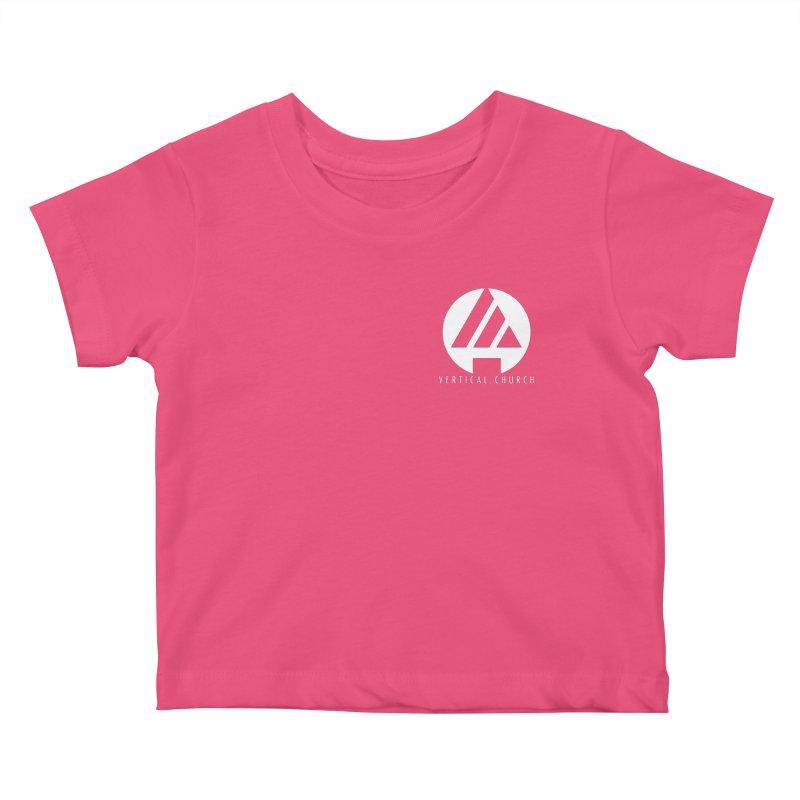 Vertical Church Logo White Kids Baby T-Shirt by the vertical church's Artist Shop
