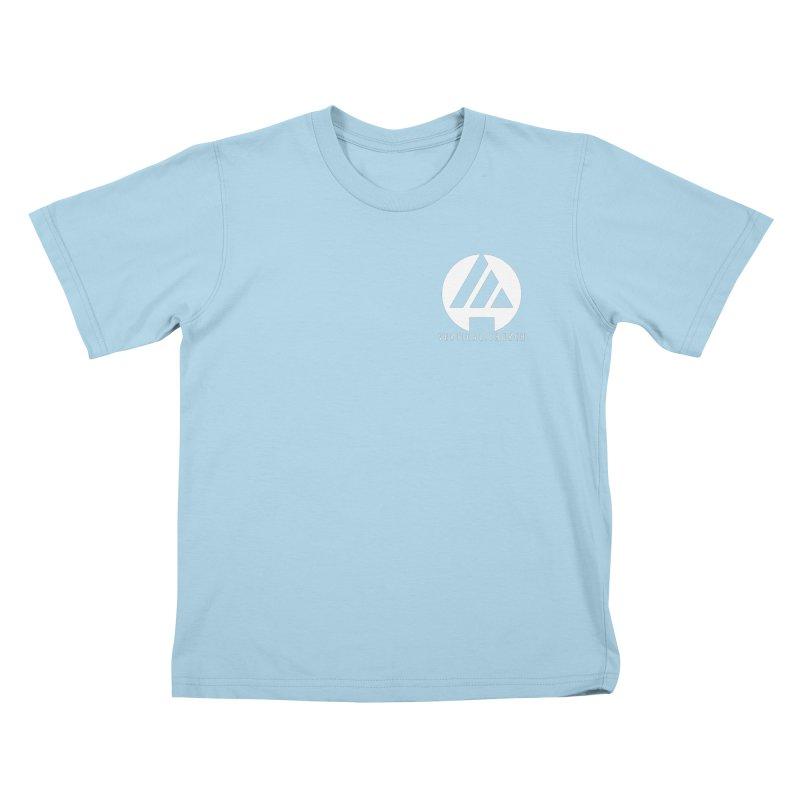 Vertical Church Logo White Kids T-Shirt by the vertical church's Artist Shop