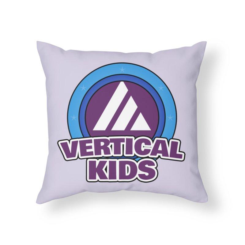 Kids Logo Home Throw Pillow by the vertical church's Artist Shop
