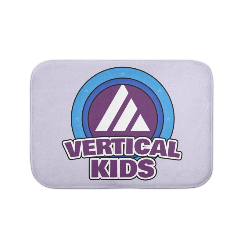 Kids Logo Home Bath Mat by the vertical church's Artist Shop