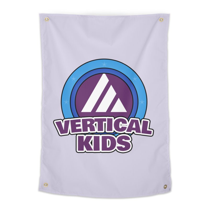 Kids Logo Home Tapestry by the vertical church's Artist Shop