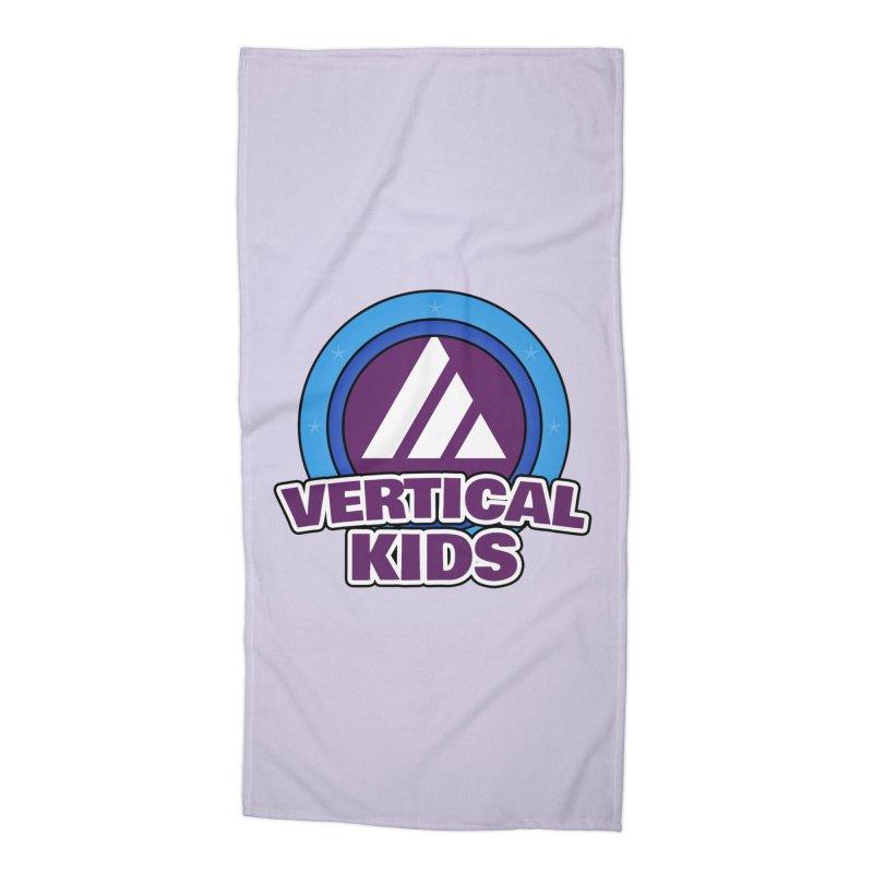 Kids Logo Accessories Beach Towel by the vertical church's Artist Shop