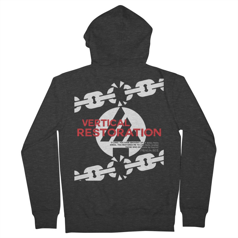 Vertical Restoration Men's French Terry Zip-Up Hoody by the vertical church's Artist Shop