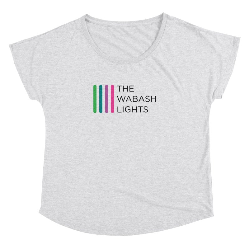 TWL Logo Color Black  in Women's Dolman Heather White by thewabashlights's Artist Shop