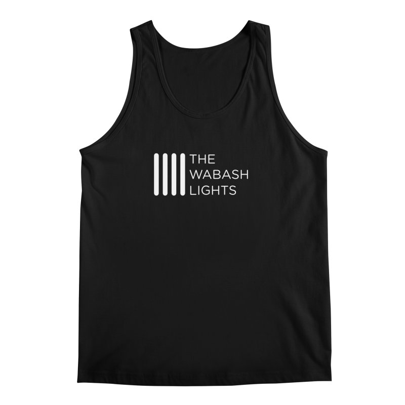 TWL Logo White in Men's Tank Black by thewabashlights's Artist Shop