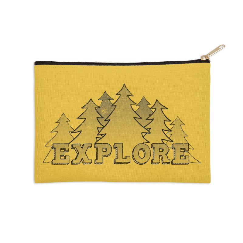 Explore Accessories Zip Pouch by The Wandering Fools Artist Shop