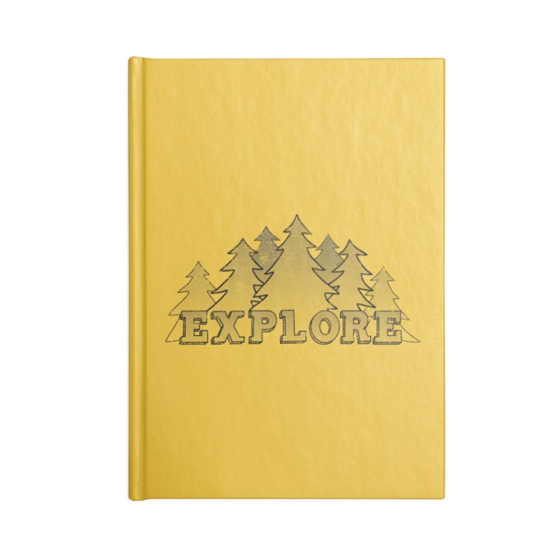 Explore Accessories Blank Journal Notebook by The Wandering Fools