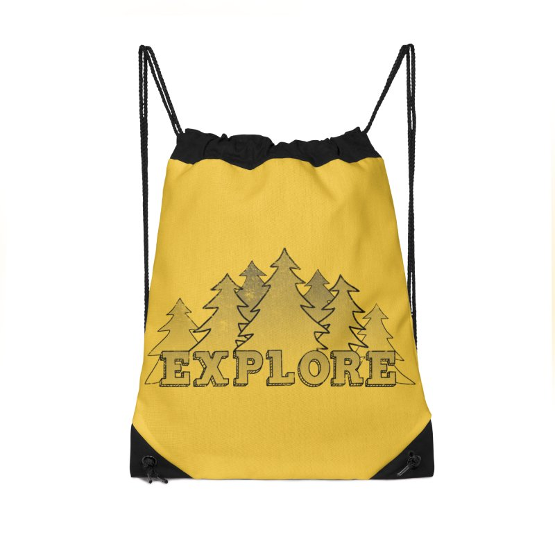 Explore Accessories Drawstring Bag Bag by The Wandering Fools