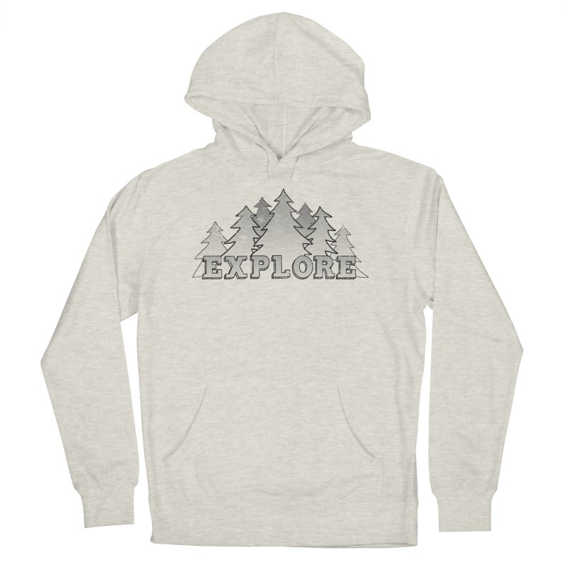 Explore in Women's French Terry Pullover Hoody Heather Oatmeal by The Wandering Fools