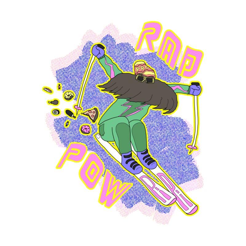 True '80s Ski Legend - Rad Pow Men's T-Shirt by The Wandering Fools