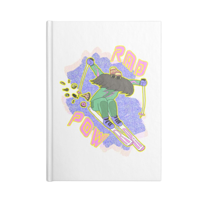 True '80s Ski Legend - Rad Pow Accessories Blank Journal Notebook by The Wandering Fools