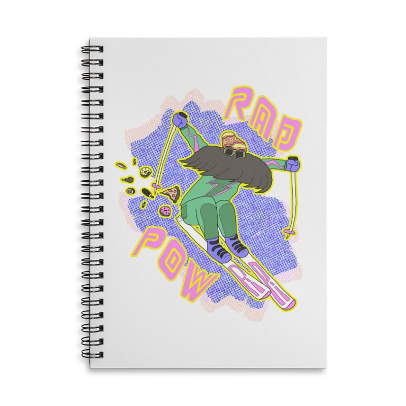 True '80s Ski Legend - Rad Pow Accessories Lined Spiral Notebook by The Wandering Fools