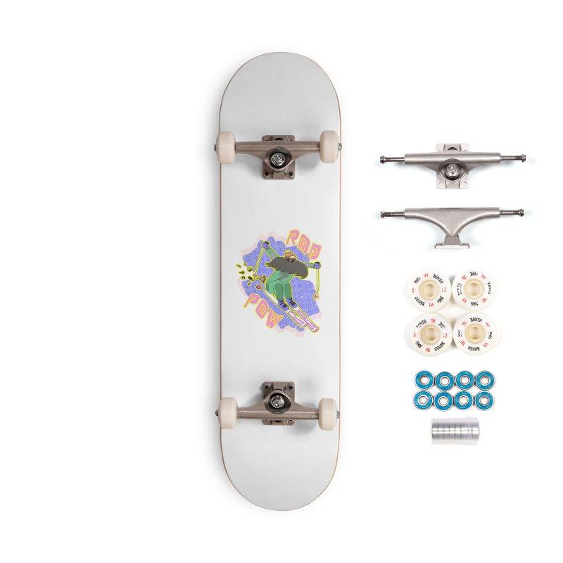 True '80s Ski Legend - Rad Pow Accessories Complete - Premium Skateboard by The Wandering Fools