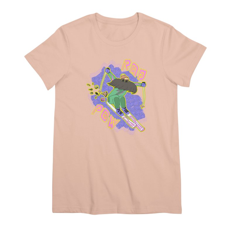 True '80s Ski Legend - Rad Pow Women's Premium T-Shirt by The Wandering Fools