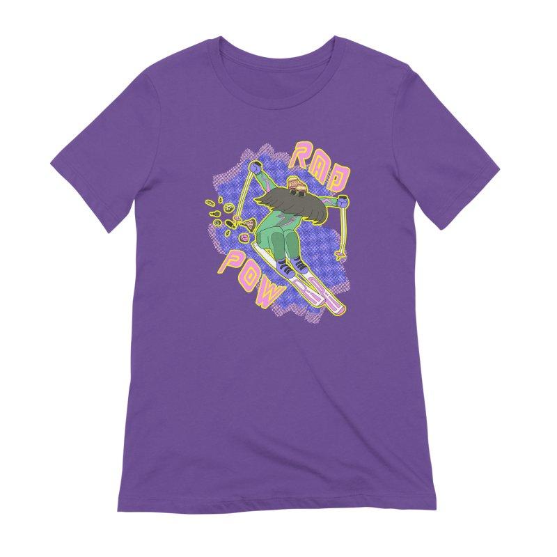 True '80s Ski Legend - Rad Pow Women's Extra Soft T-Shirt by The Wandering Fools