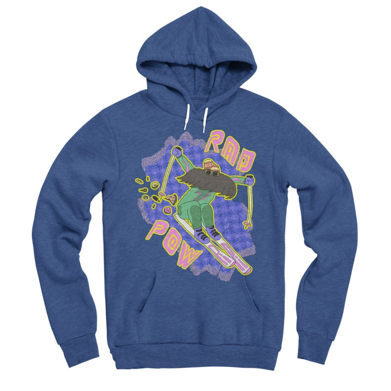 True '80s Ski Legend - Rad Pow Women's Sponge Fleece Pullover Hoody by The Wandering Fools