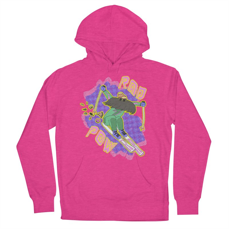 True '80s Ski Legend - Rad Pow Women's French Terry Pullover Hoody by The Wandering Fools