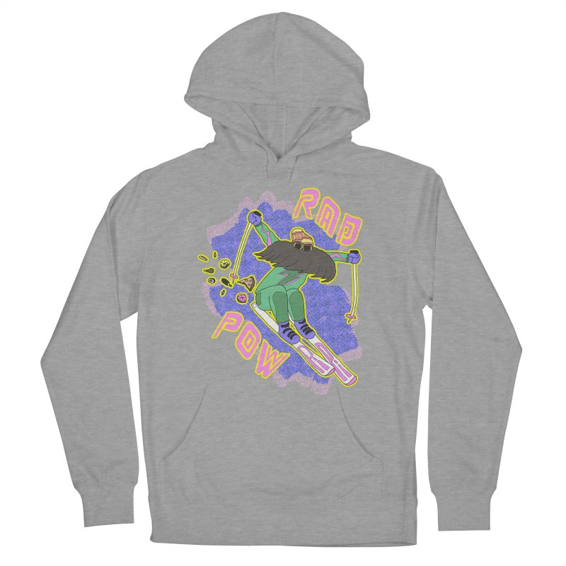 True '80s Ski Legend - Rad Pow Men's French Terry Pullover Hoody by The Wandering Fools