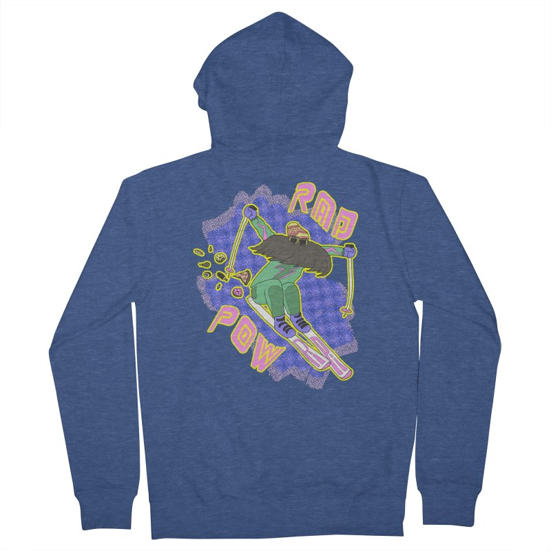 True '80s Ski Legend - Rad Pow Women's French Terry Zip-Up Hoody by The Wandering Fools